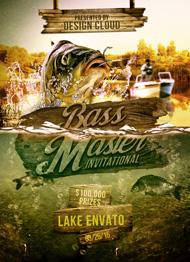 Design Cloud: Bass Masters Flyer Template