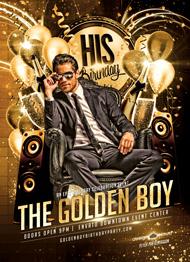 Design Cloud: Golden Boy Birthday Flyer Template