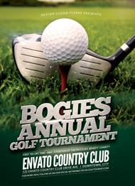 Design Cloud: Golf Tournament Flyer Template