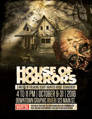 Design Cloud: House of Horrors Halloween Flyer Template