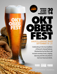 Design Cloud: Octoberfest Event Flyer Template