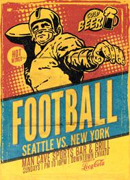 Design Cloud: Retro Football Flyer Template
