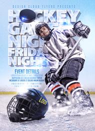 Design Cloud: Hockey Flyer Template